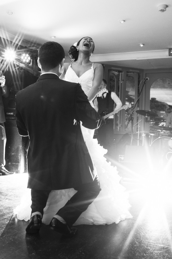 First Dance Fun, Groom Getting Down at Linthwaite House Hotel