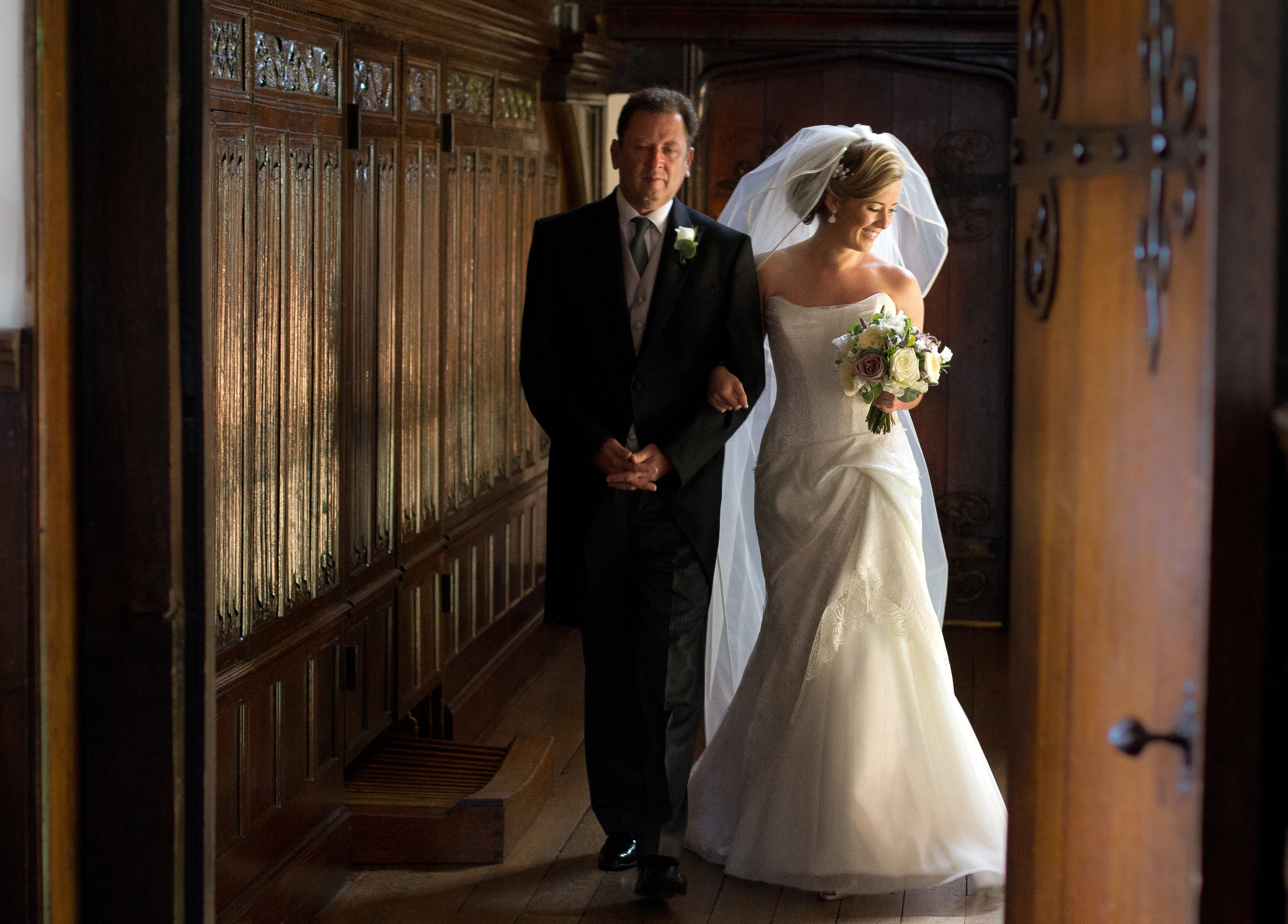 Beautiful Bride and Father of the Bride, Hillbark Wedding Photography