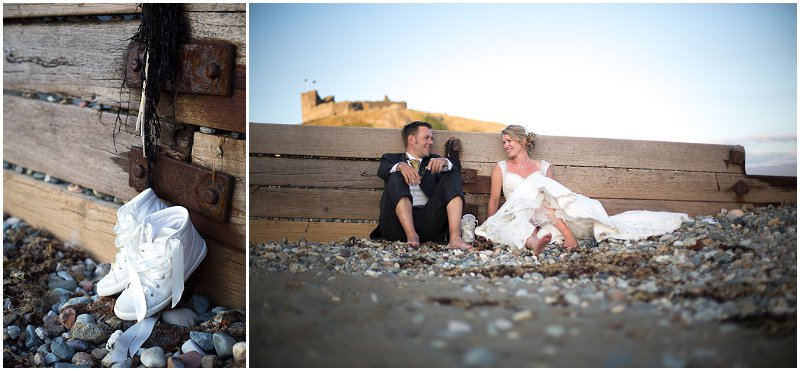 Sitting On The Beach Wales Wedding Photography