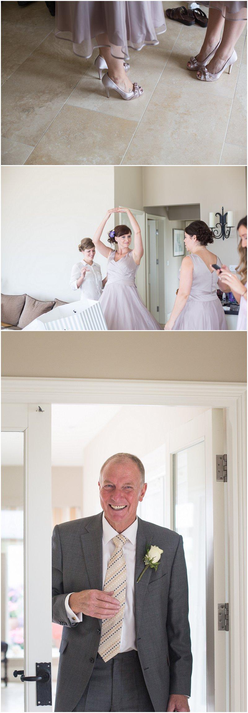 Bridesmaids and Guests at Anglesey Wedding