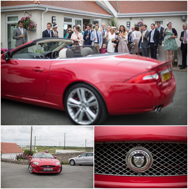 Stunning sports car Groom gave his Bride as a gift Anglesey