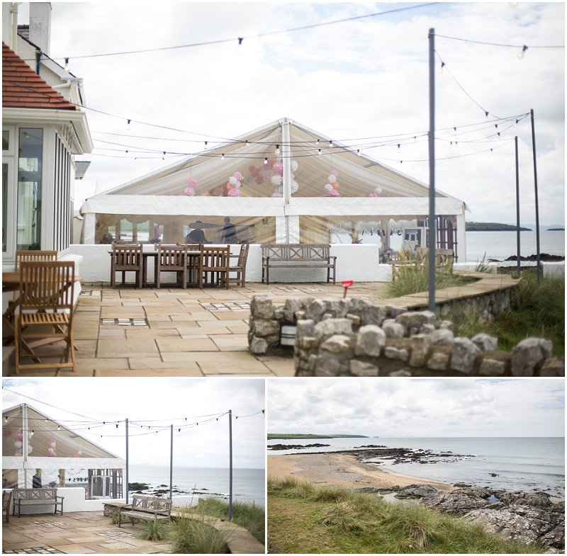Stunning Marquee on a Cliffside at Anglesey Wedding