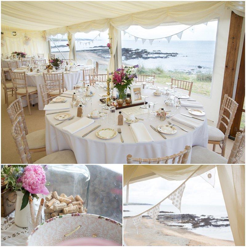 Beautiful Marquee wedding details