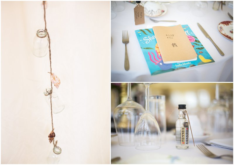 Little Wedding Details at Marquee Anglesey Wedding