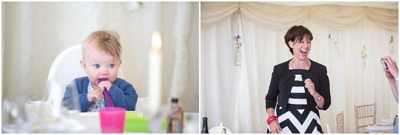 Guests enjoying wedding in Marquee wedding