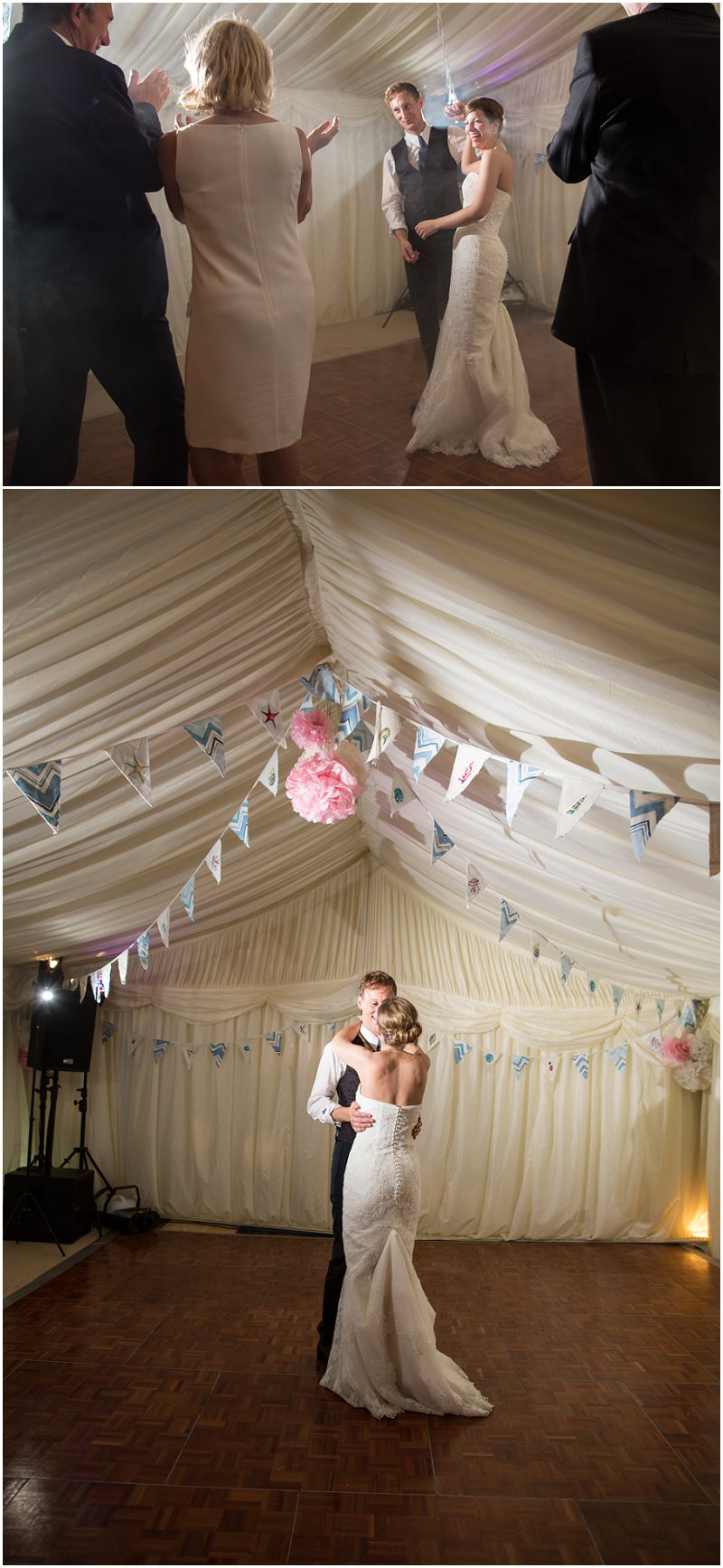 First dance at Anglesey Marquee wedding in Wales