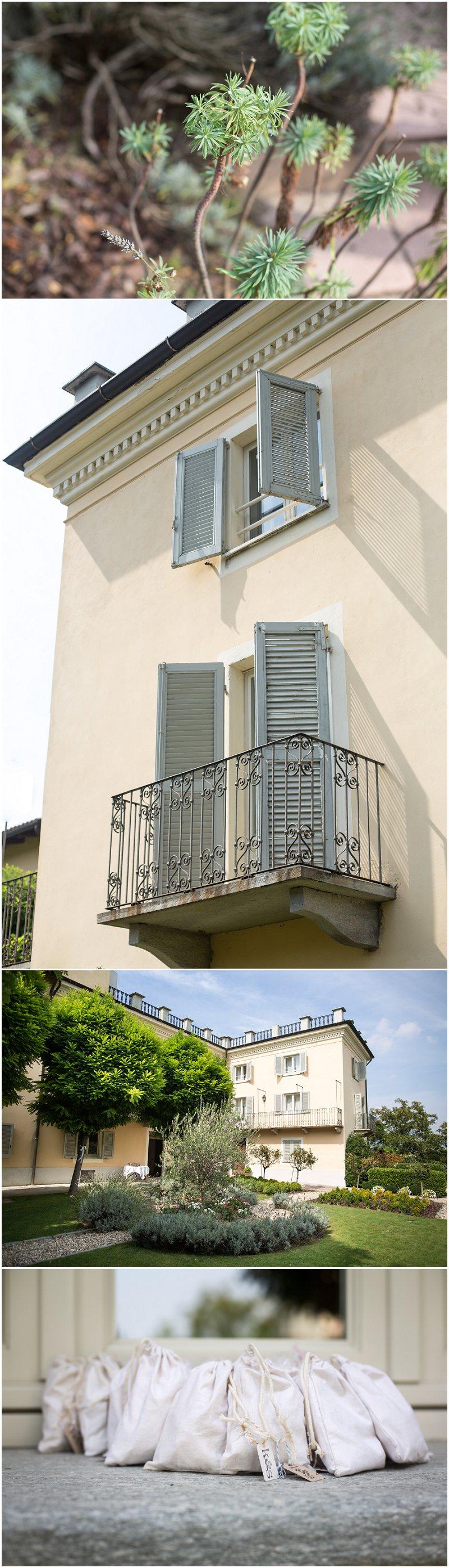 Building details of La Villa Piedmont Italy