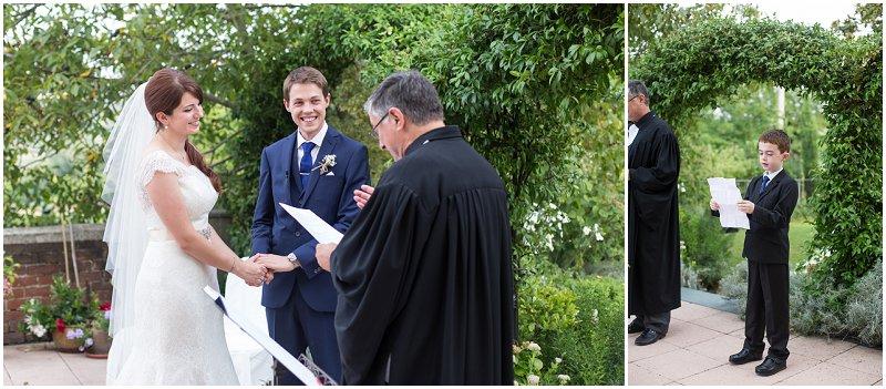 Wedding ceremony at La Villa, Piedmont