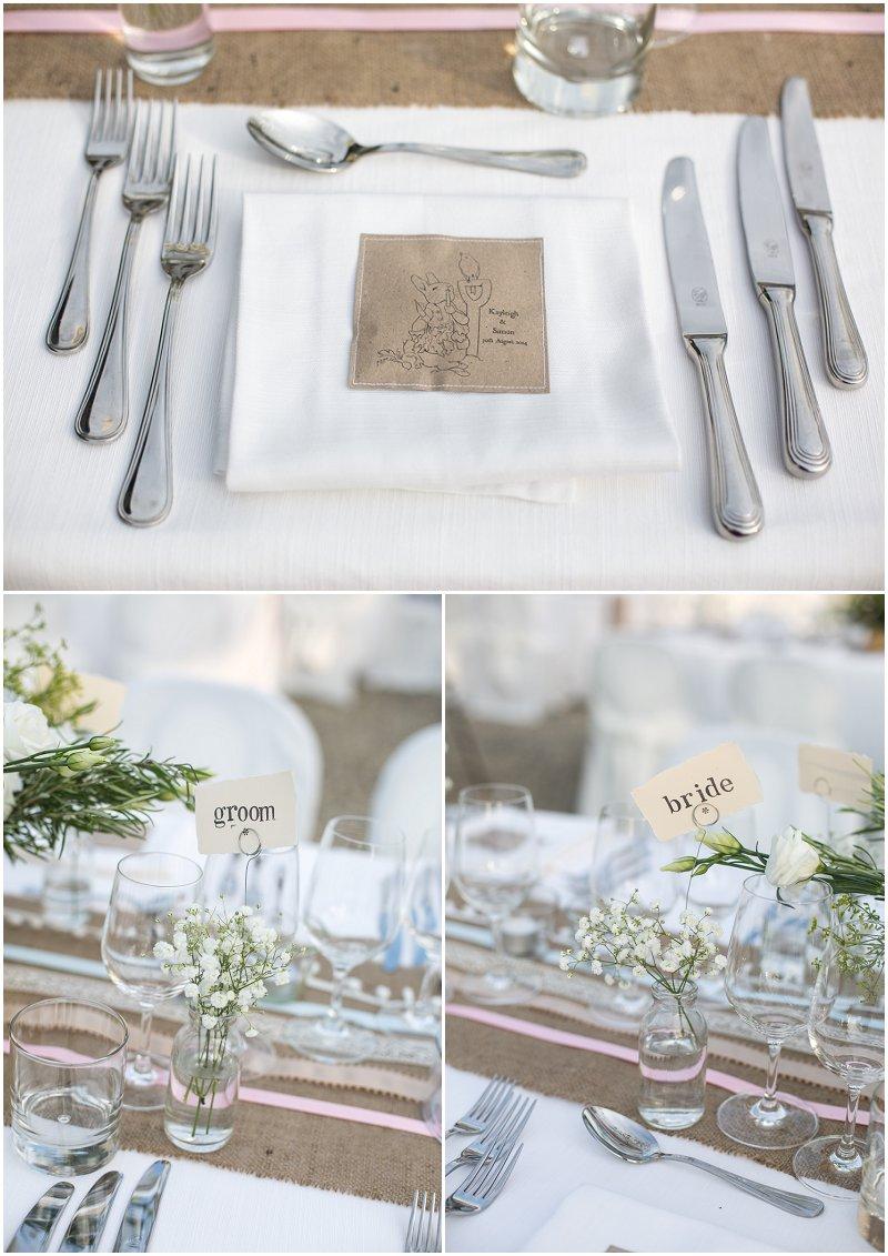 Bride and Groom table plans at La Villa Wedding