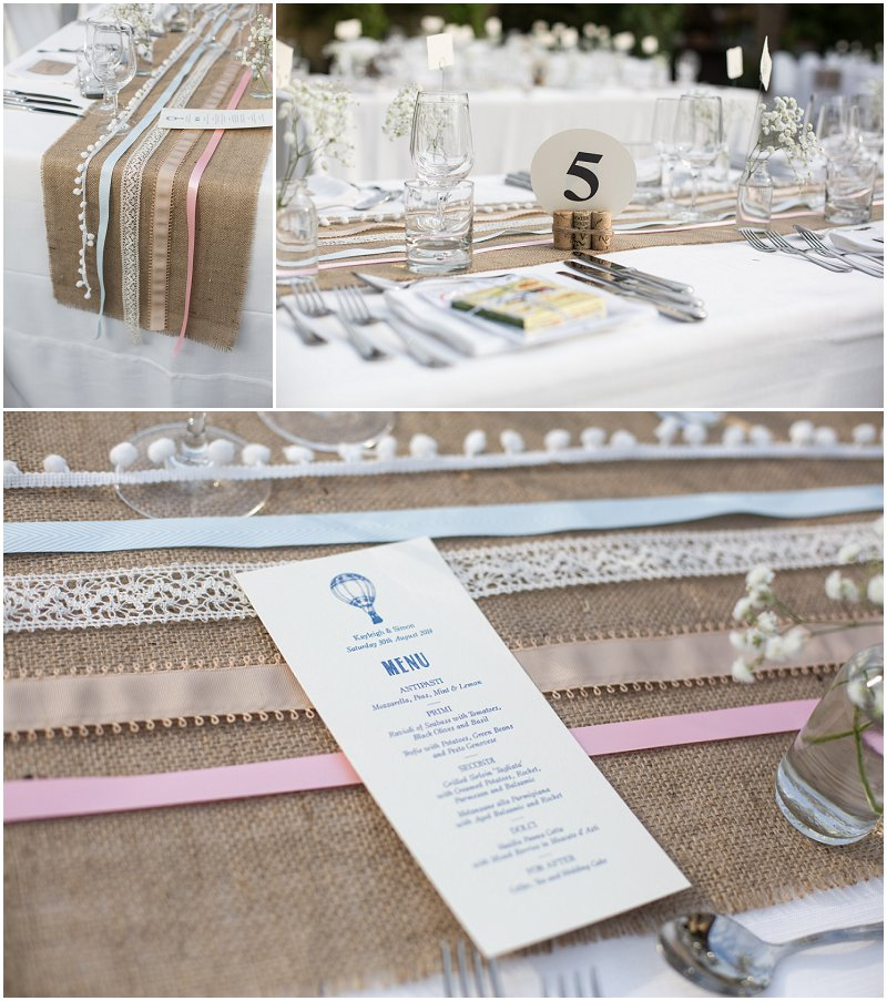 Table Plans at La Villa Piedmont Italy