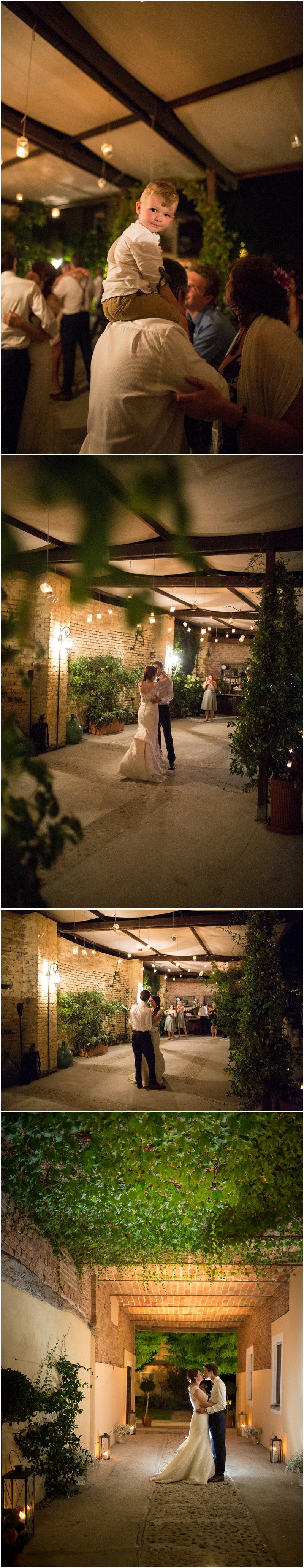 First dance at La Villa wedding ceremony Italy