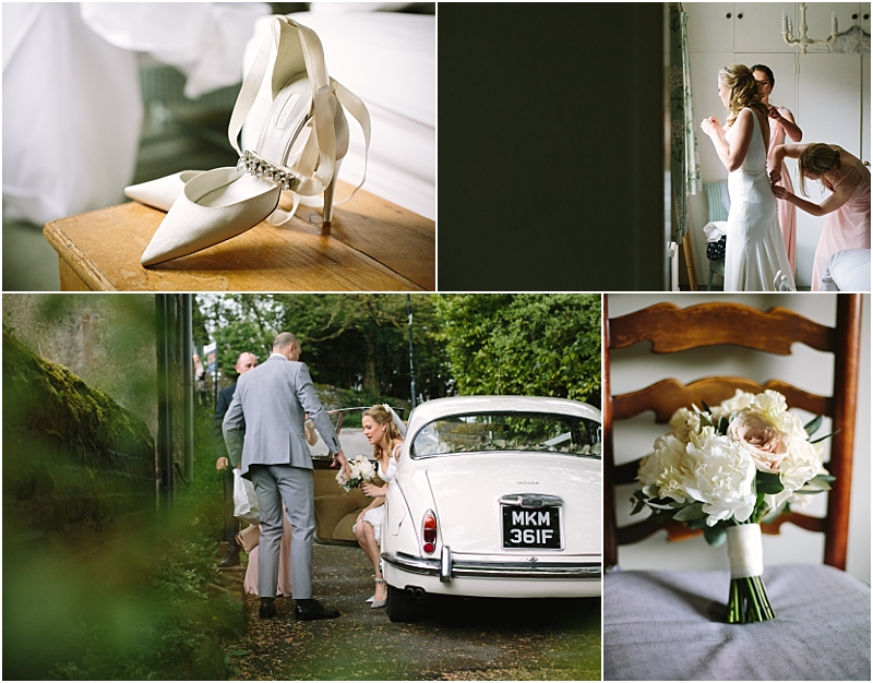 Bride Prep in Huddersfield Marquee Wedding Photographer