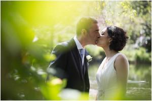 Bride and groom kissing | Lancashire Wedding Photography