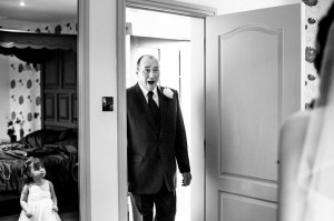 Father of the Bride shows his shock - Documentary Wedding Photography