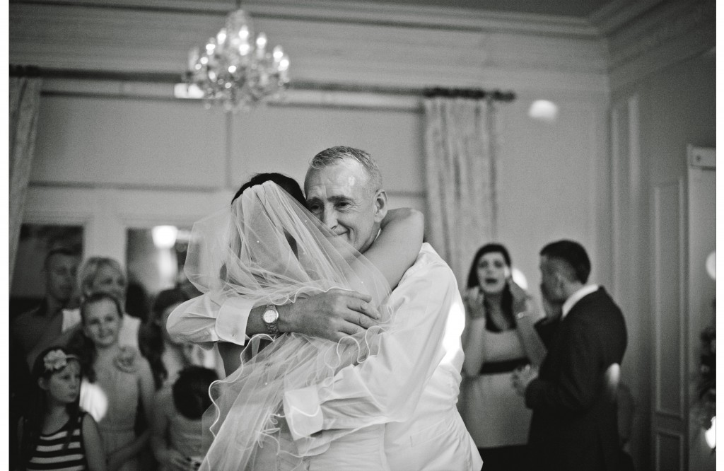 Father of the bride dancing with his daughter, West Tower Wedding Photography