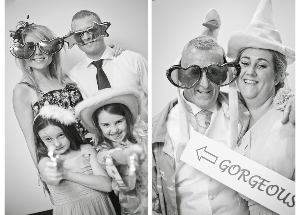 The 'Photobooth' at West Tower, Lancashire Wedding photography