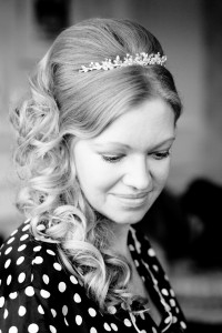 Bride Looking Down Abbey House Hotel, Creative Wedding Photographer
