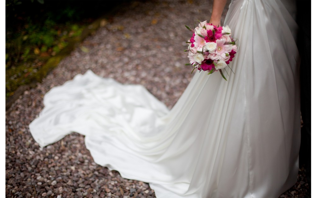 A close up shot of a bride's bouquet. Creative wedding photography, Lancashire