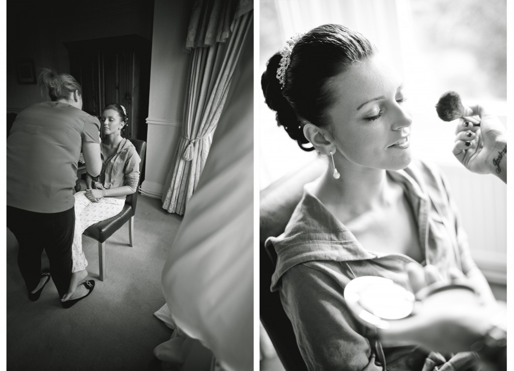 Wedding photojournalism style pictures during bridal preparations