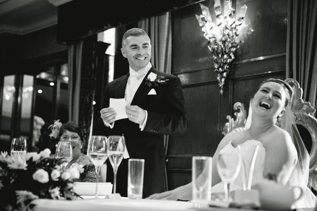 Wedding Photojournalism - Groom During his Speech in Liverpool