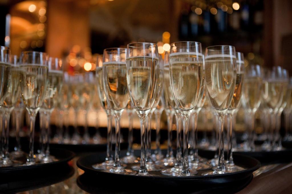 Champagne glasses, Blackburn wedding photography Lancashire