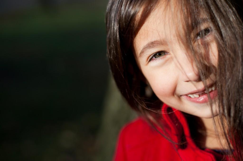 A girl during a portrait session in Preston's Ashton Park, Lancashire.