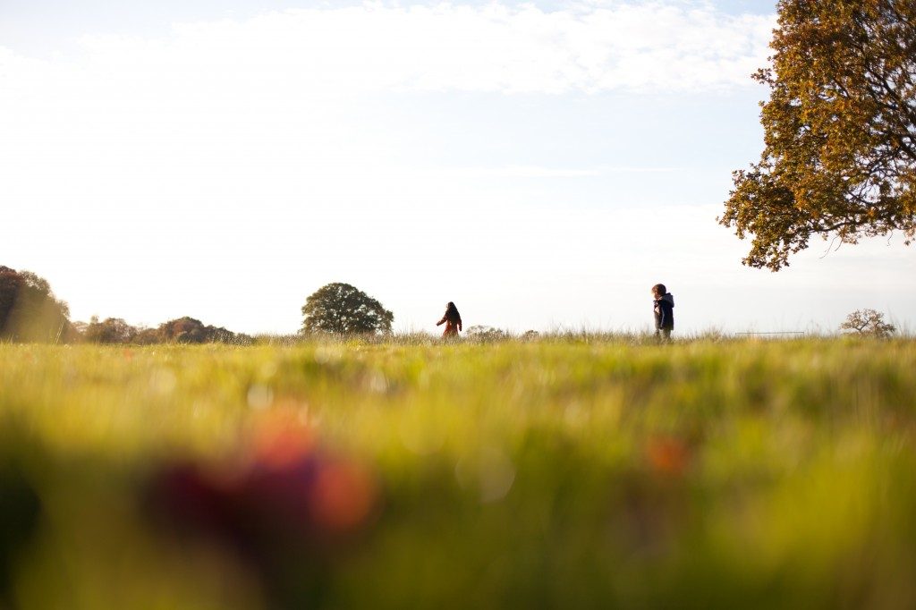 Two siblings run across a field in the sun during a Lifestyle Photography Shoot, Preston Lancashire