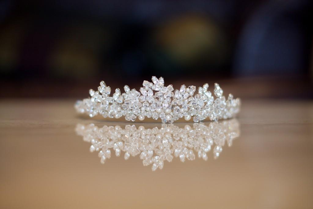 Wedding Tiara Reflections on Table Liverpool Wedding Photography