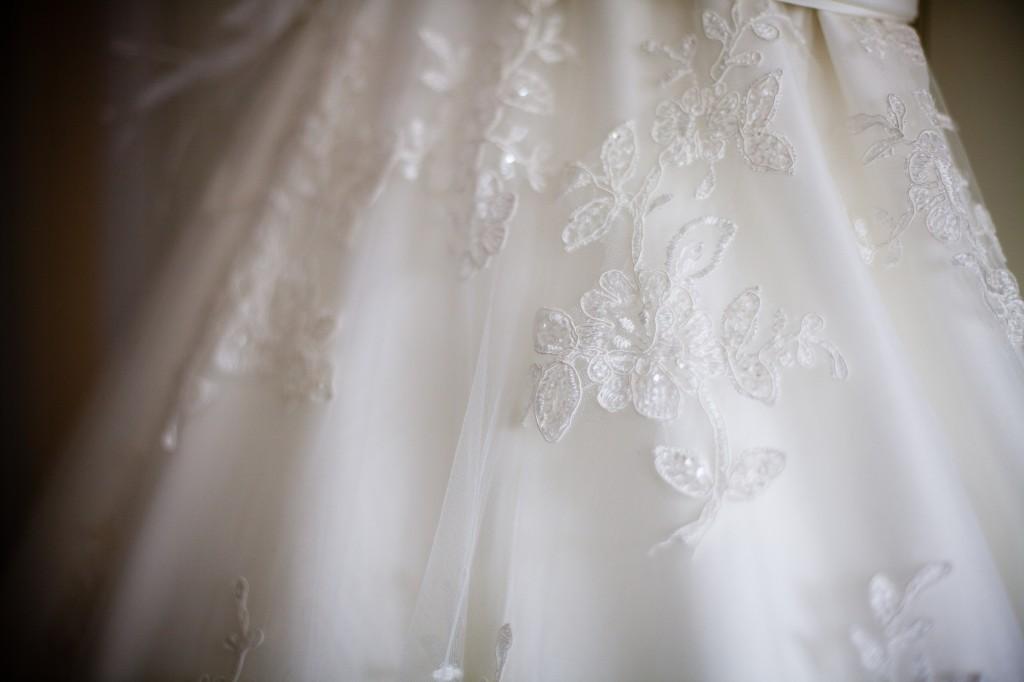 Lace Dress Detailing of Wedding Dress Liverpool Wedding Photography