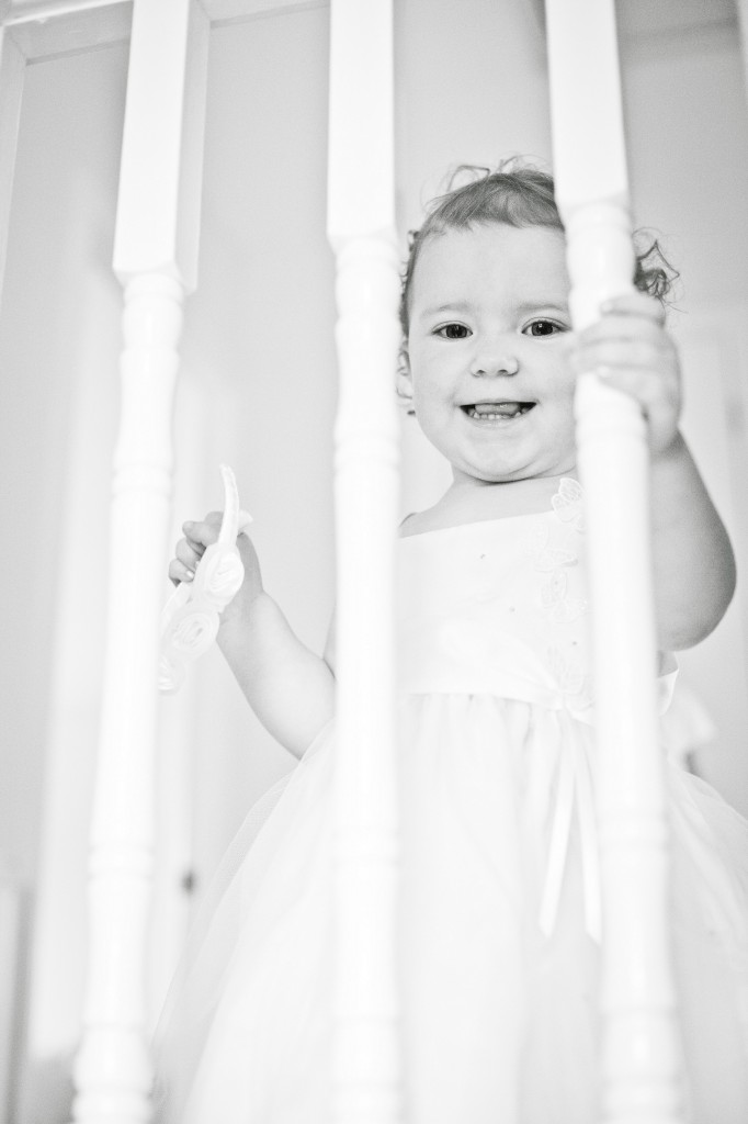 Laughing Bridesmaid on Stairs Liverpool Photography