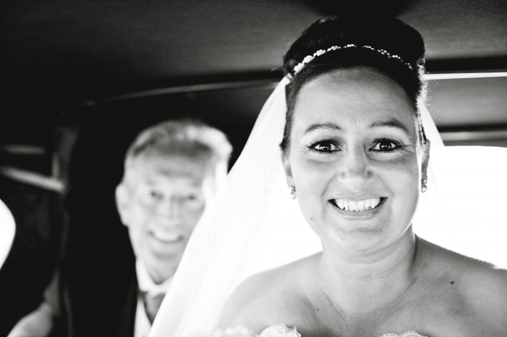 Bride with Dad in the background - Liverpool Photographer