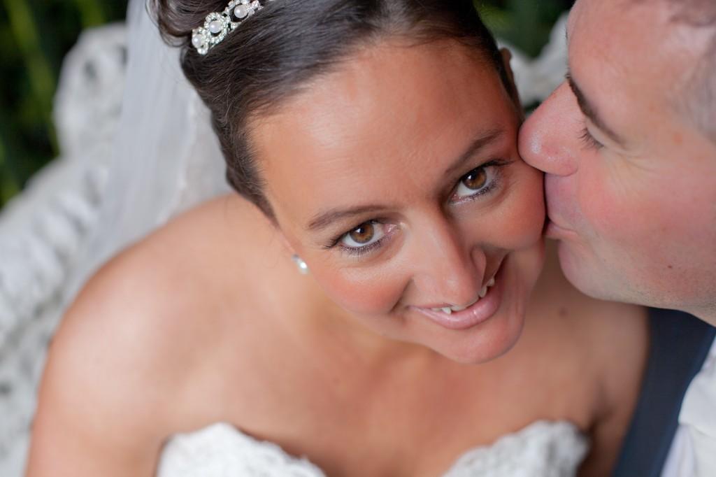 Groom Kissing His Bride's Cheek - Liverpool Photographer