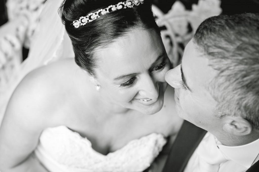 Laughing together - newlyweds wedding photography