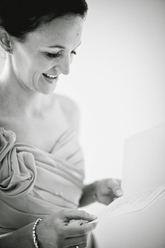 Bridesmaid Laughing at Card Contents Liverpool Wedding