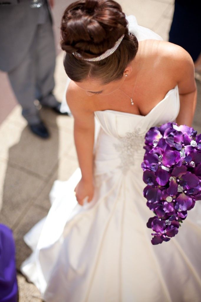 Bride Looking Down Creative and Modern Wedding Photography Liverpool