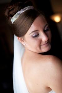 Bride Looking Over Her Shoulder   Beautiful Wedding Photography Liverpool Suites Hotel