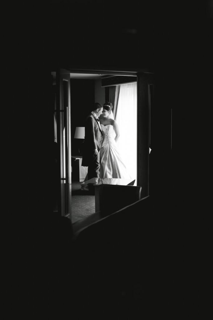 Creative Wedding Photography Liverpool   Couple Wedding Photograph Through Mirror
