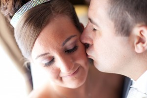 Groom Kisses Bride   Liverpool Wedding Photography