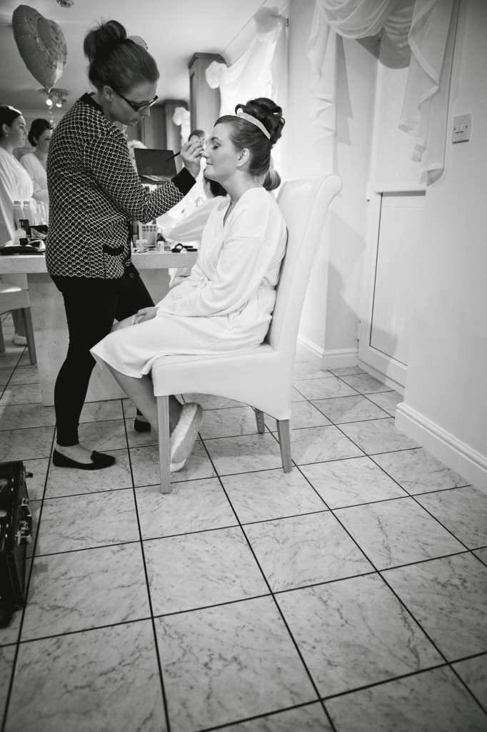 Beautiful Bride During Preparation for her Suites Hotel Wedding, Knowsley