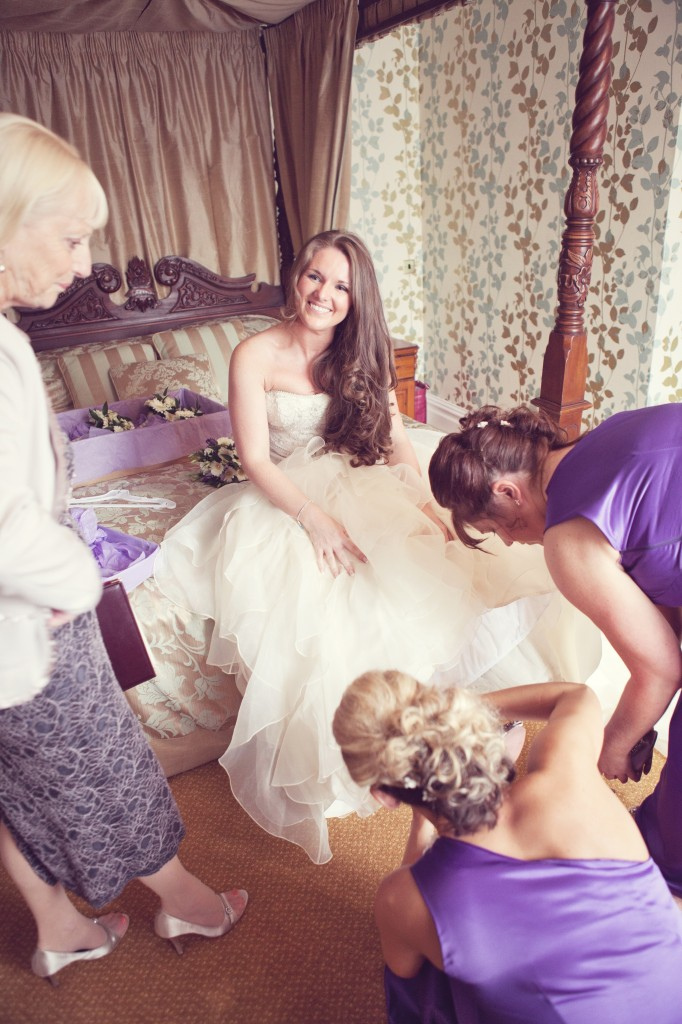The Shoes - Geting Help From Bridesmaids Bridal Prep