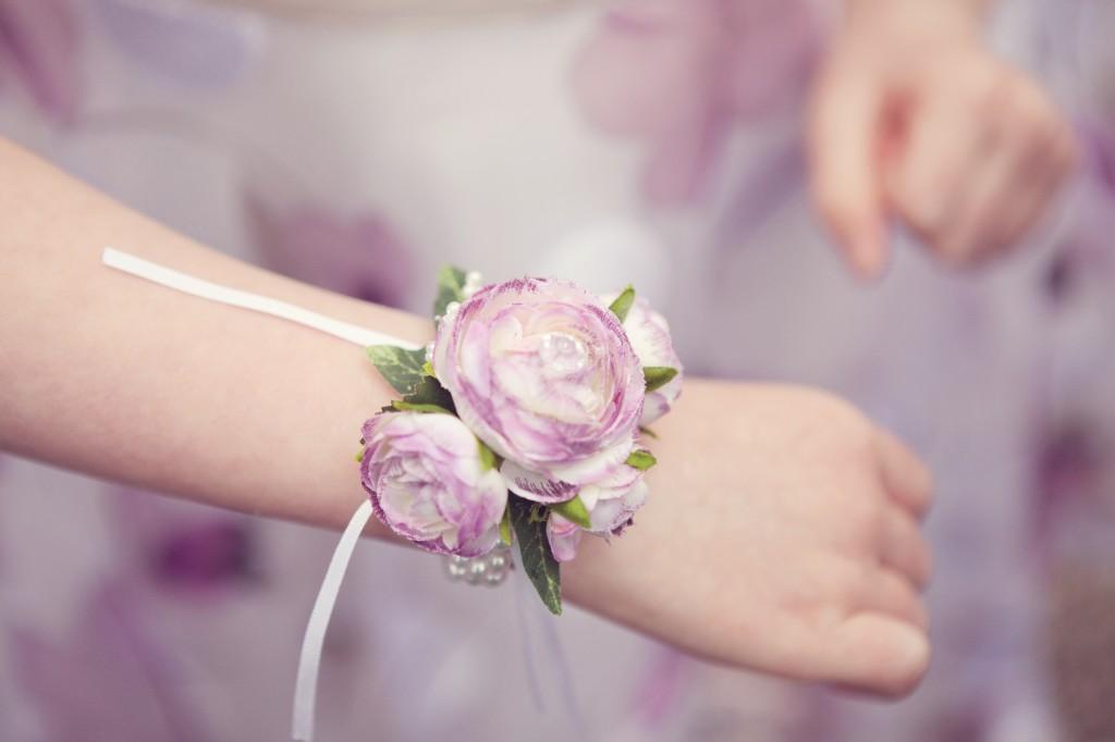Wedding Flower Corsage Details - Northop Hall