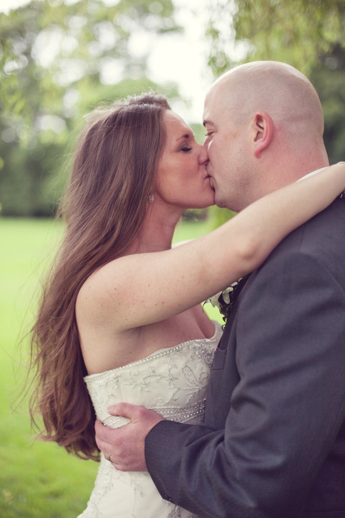 Kissing as Man and Wife - North Wales Wedding