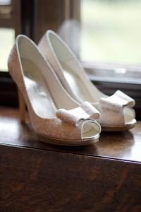 Beautiful Lace Wedding Shoes, Rowton Castle, Shopshire