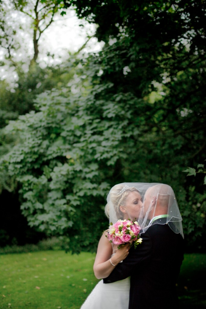 Ashfield House Hotel, Bride and groom pose for couples portraits