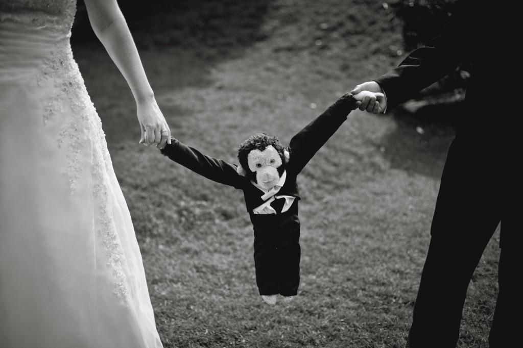Mojo the Monkey. Ashfield House Wedding Photography