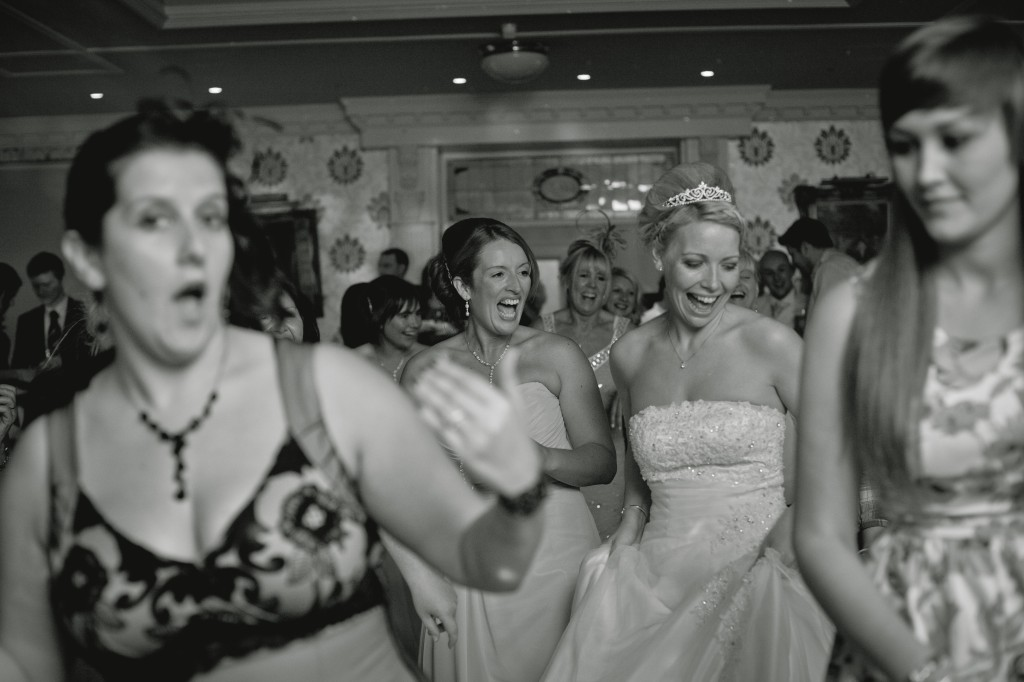 Zumba dancing at a wedding reception in Ashfield House Hotel, beautiful professional wedding photography Wigan