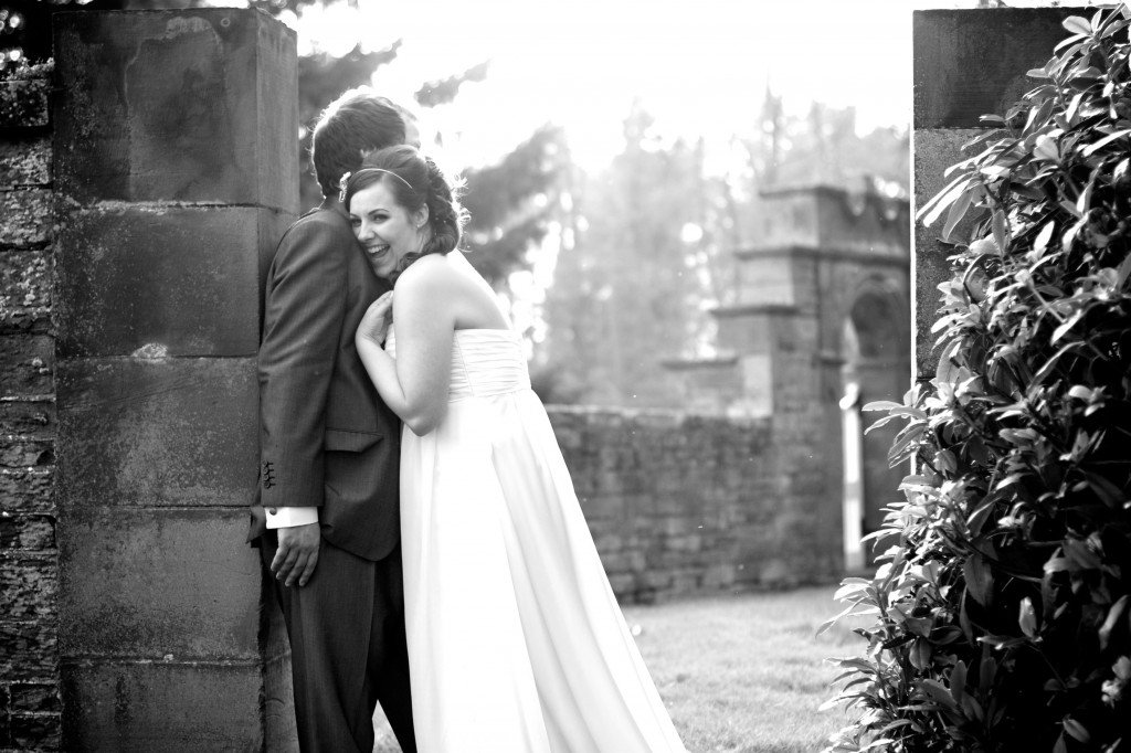 Laughing bride and groom, Cumbria Wedding Photography