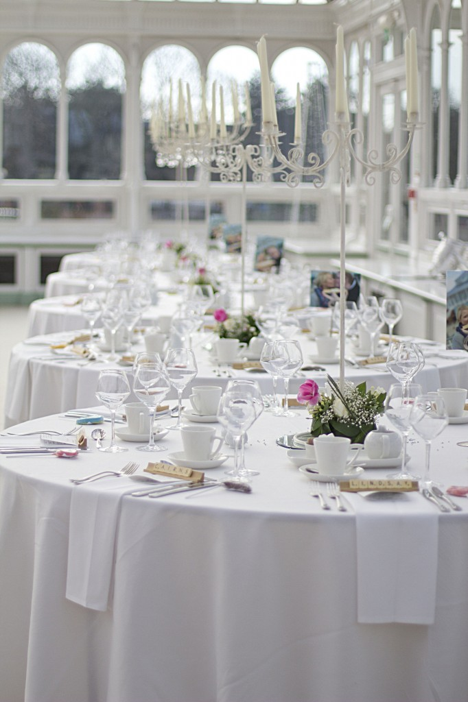 Tables ready for Reception - Isla Gladstone, Liverpool Wedding
