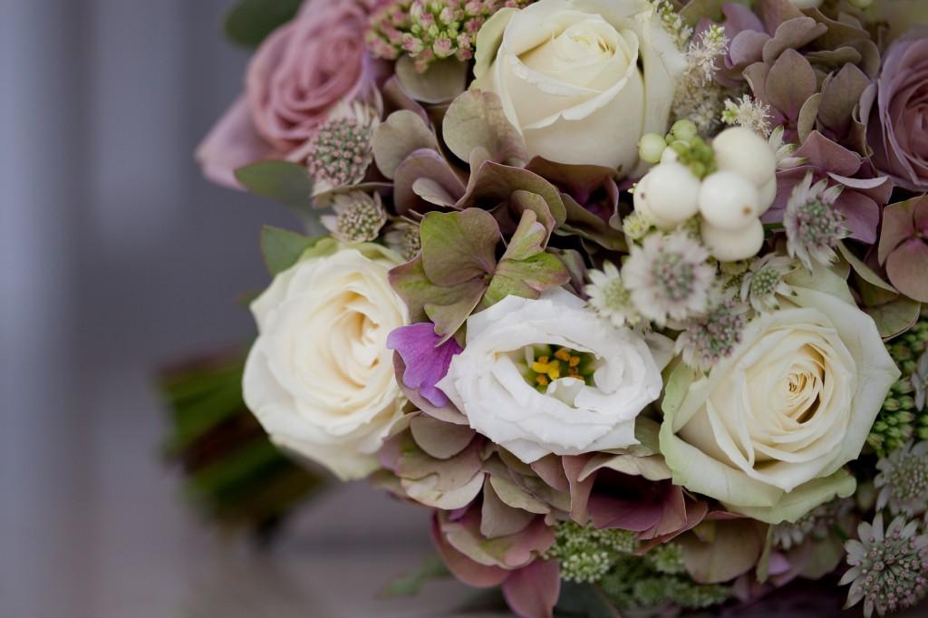 Close up of beautiful wedding flowers. Beautiful detailed wedding photography