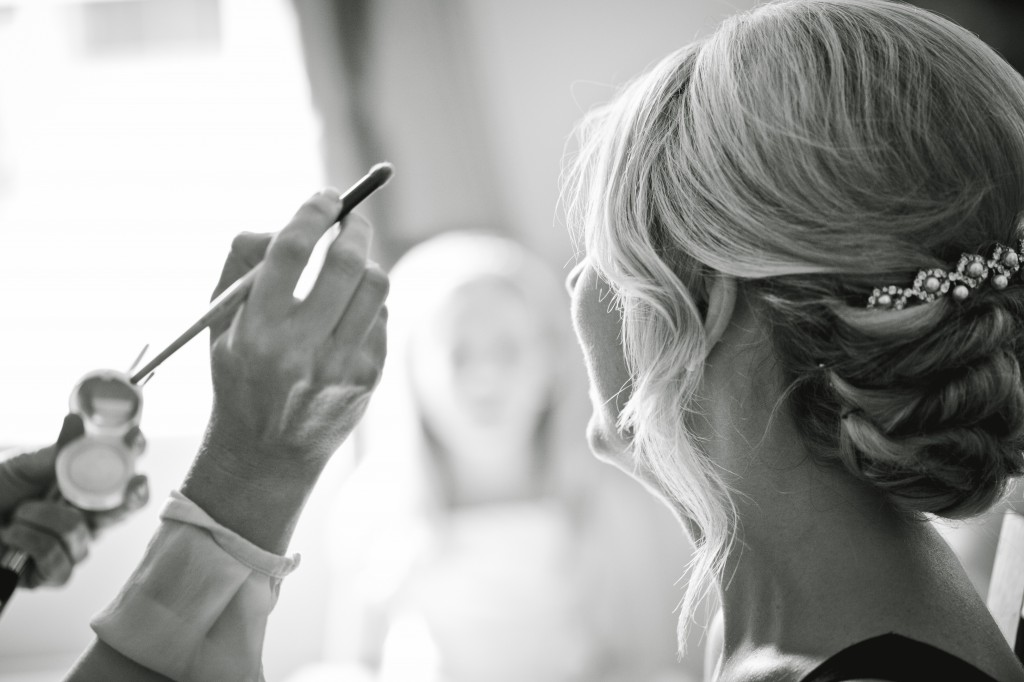 A documentary wedding photograph, keeping out of the way and unobtrusive during the day